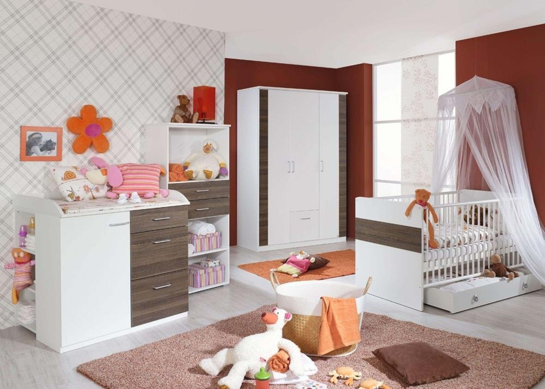 Babyzimmer komplett tiana kinderzimmer 6 teilig wei esche for Kinderzimmer 6 teilig