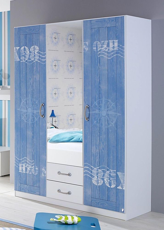 kinderzimmerschrank torben kleiderschrank wei blau. Black Bedroom Furniture Sets. Home Design Ideas