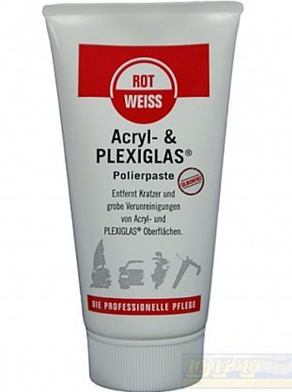 rotweiss acryl plexiglas polierpaste 150 ml tube kaufen bei. Black Bedroom Furniture Sets. Home Design Ideas