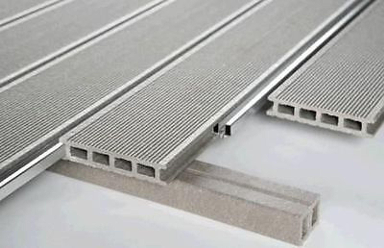 28 x 150 mm wpc terrassendielen mit aluschienen f ein geschlossenes deck upm kaufen bei. Black Bedroom Furniture Sets. Home Design Ideas