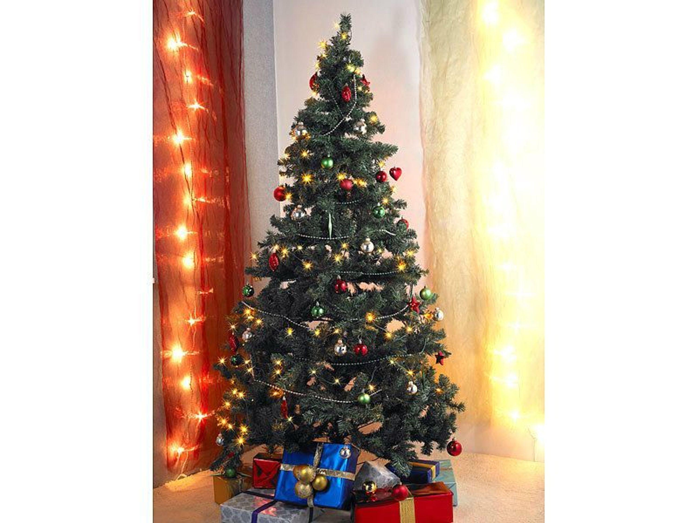 k nstlicher weihnachtsbaum gr n 180 cm 465 pvc spitzen. Black Bedroom Furniture Sets. Home Design Ideas