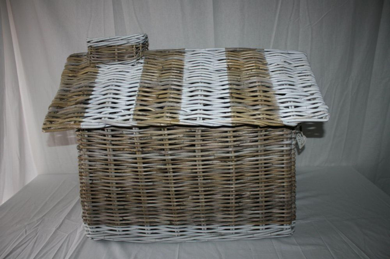 hundeh tte happy house f r innen aus rattan 62 x 42 x 59 cm kaufen bei. Black Bedroom Furniture Sets. Home Design Ideas