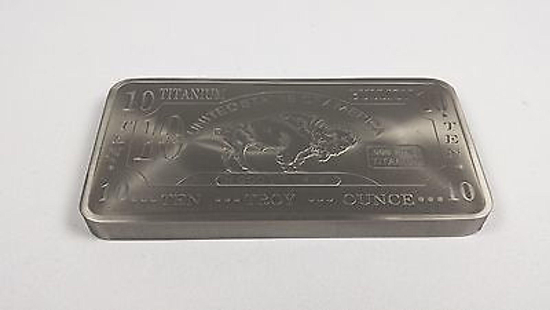 Titanbarren  10 oz Unze 999 Titan Titanium Titanbarren Barren Sehr Selten ...