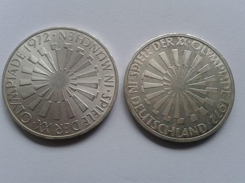 2 X 10 Mark 1972 Brd Silber Münzen Olympische Spiele München