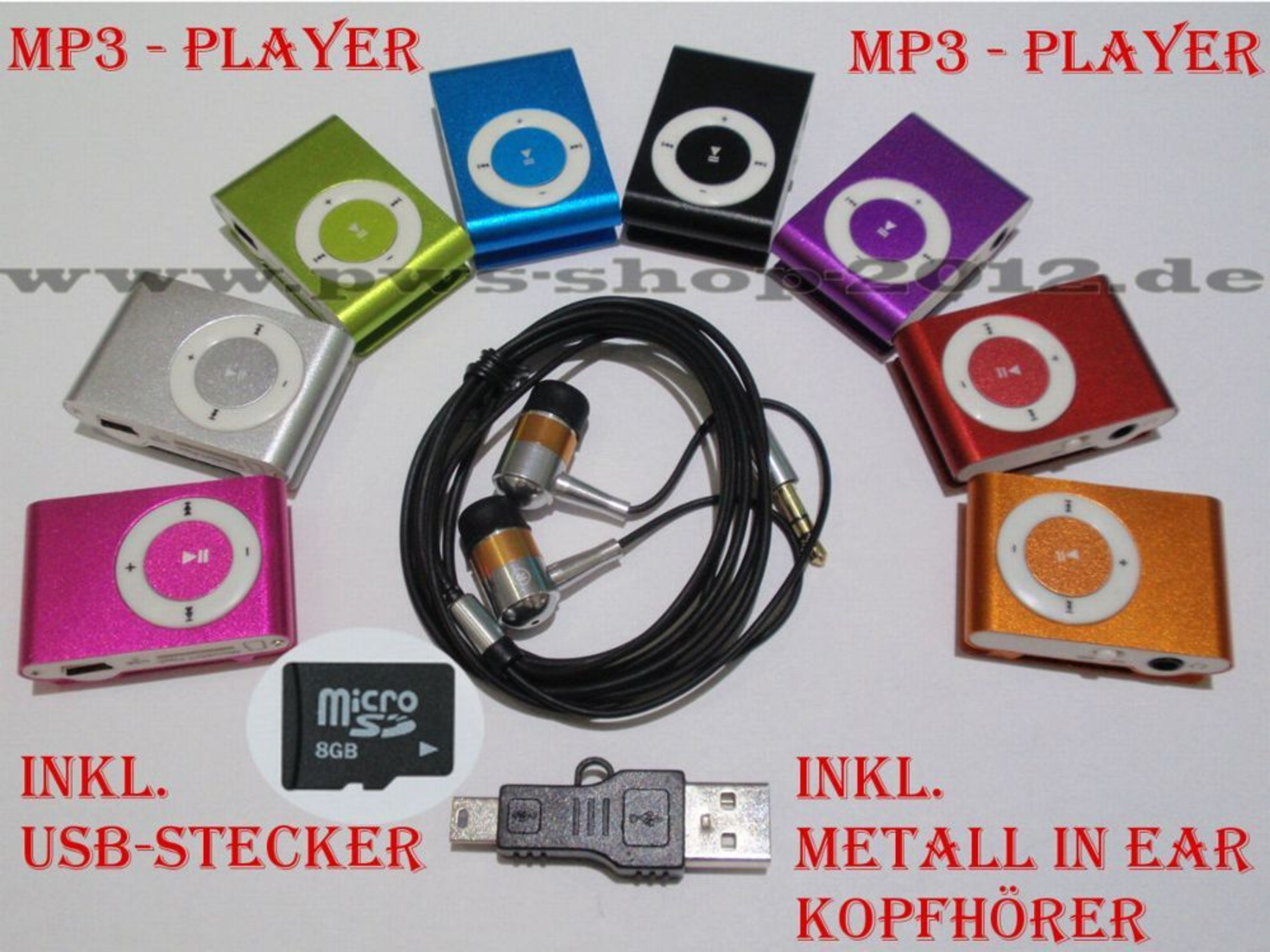 mp3 player bis 8gb micro sd karte clip funktion aluminium. Black Bedroom Furniture Sets. Home Design Ideas