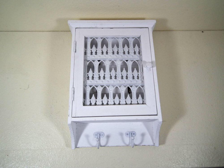 schl sselkasten schl sselk stchen holz wei auf alt gemacht kaufen bei. Black Bedroom Furniture Sets. Home Design Ideas