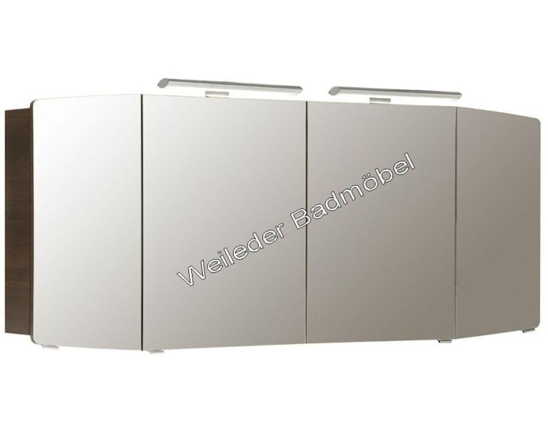 pelipal cassca spiegelschrank 100 120 140 160 cm mit led gerundete t ren 24 kaufen bei. Black Bedroom Furniture Sets. Home Design Ideas