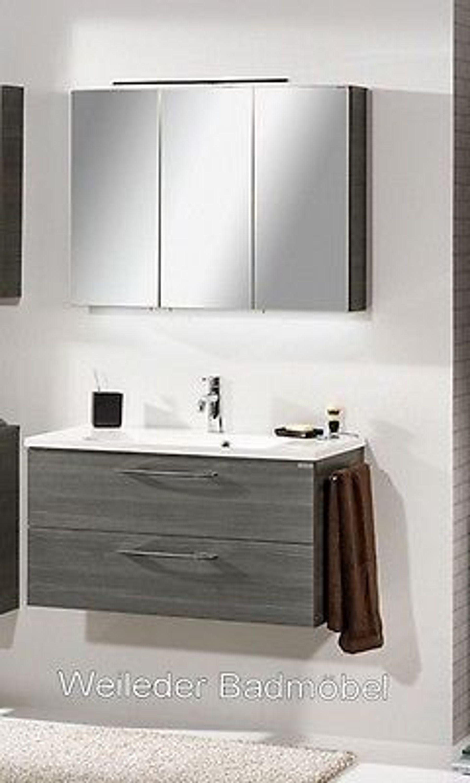 fackelmann vadea waschtisch 90 cm spiegelschrank led w hlbar 2 3 teilig 6 kaufen bei. Black Bedroom Furniture Sets. Home Design Ideas
