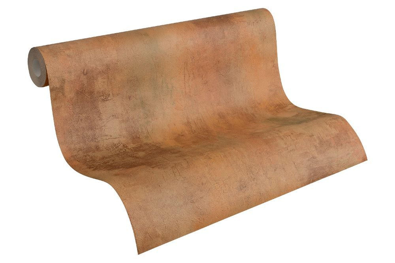 vlies tapete patina stein wand rost braun antik optik. Black Bedroom Furniture Sets. Home Design Ideas