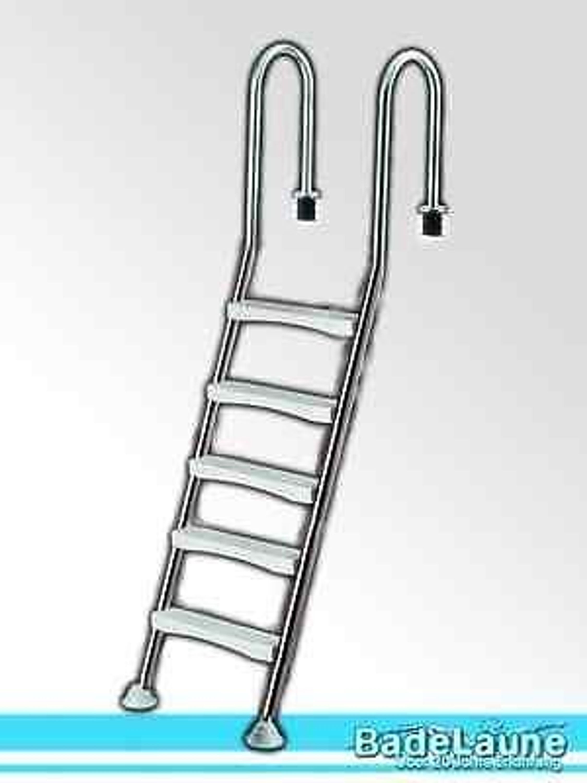 top poolleiter pooltreppe edelstahl swimming pool treppe. Black Bedroom Furniture Sets. Home Design Ideas