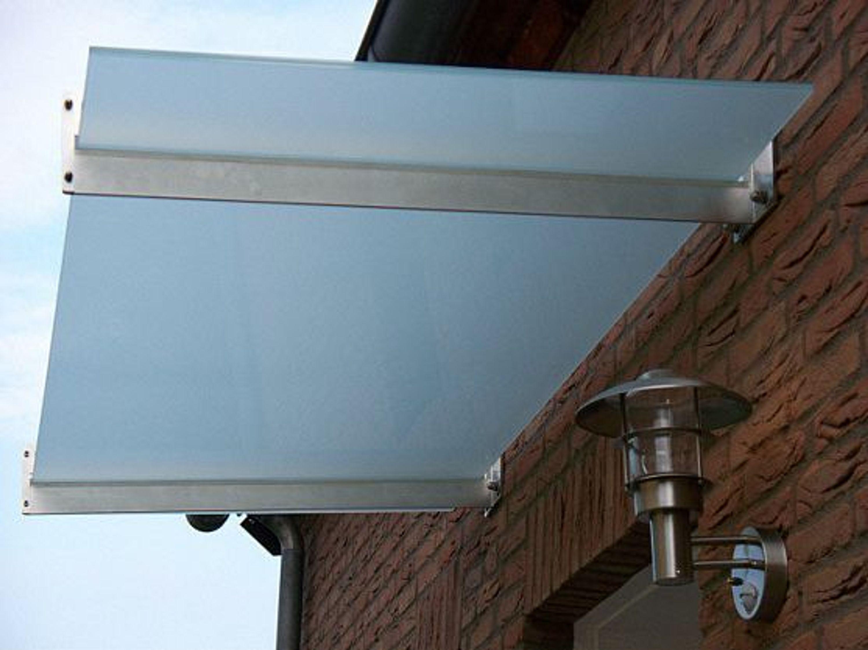 edelstahl vordach mit glas 160 x 90 cm verschiedene. Black Bedroom Furniture Sets. Home Design Ideas