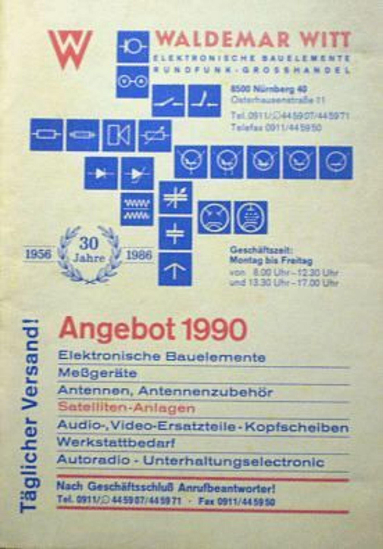 Waldemar witt elektronik bauelemente versand katalog for Versand katalog