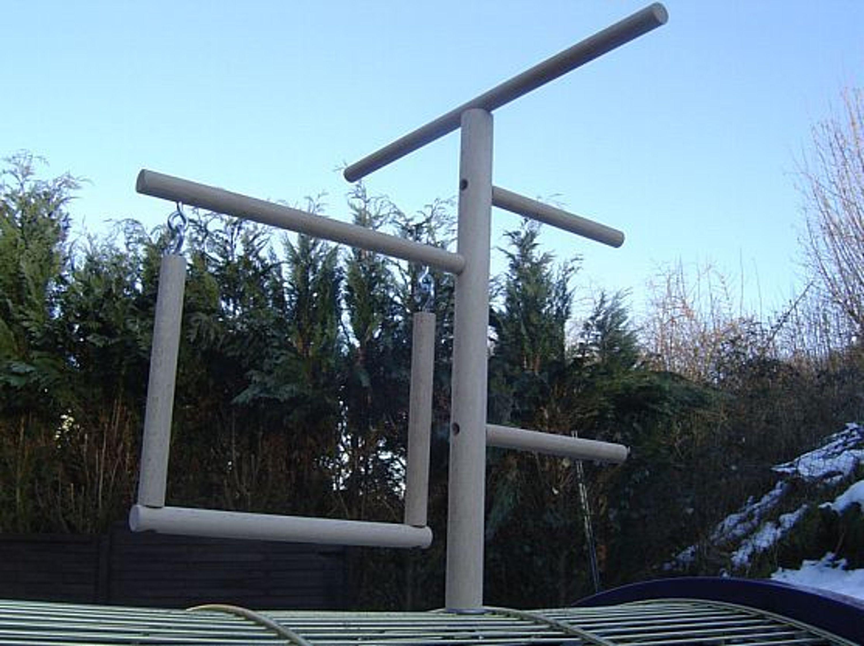 Wellensittich Klettergerüst : Pipano klettergerüst 12 mm mit schaukel sitzstange wellensittich