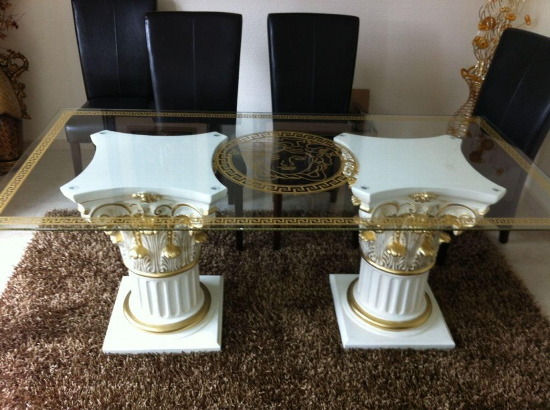 Versace Style Esstisch Wohnzimmertisch Beistelltisch