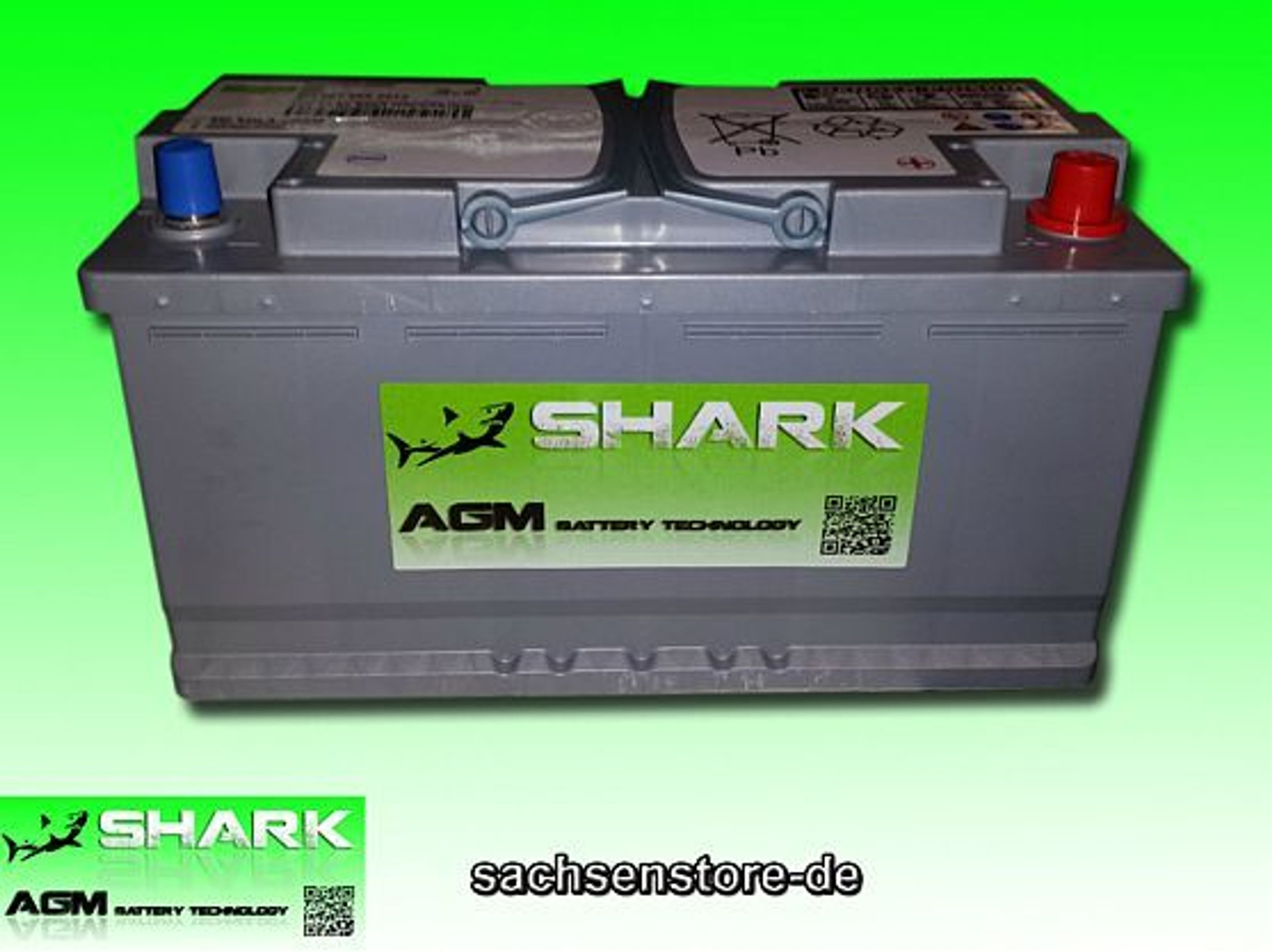 agm batterie shark 12v 95ah grau neu kaufen bei. Black Bedroom Furniture Sets. Home Design Ideas