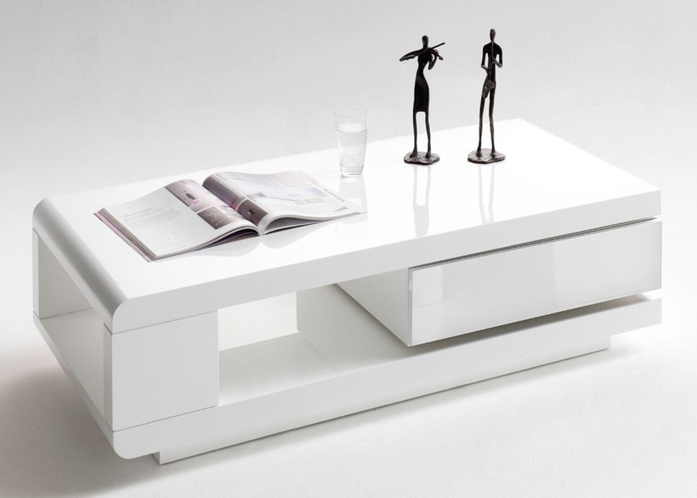 couchtisch mit schublade ida wohnzimmertisch wei hochglanz 8816 kaufen bei. Black Bedroom Furniture Sets. Home Design Ideas