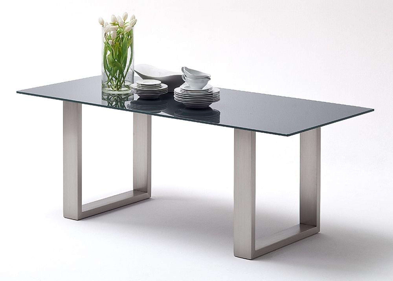 esstisch savona 220x100 cm kufentisch glastisch esszimmertisch grau kaufen bei. Black Bedroom Furniture Sets. Home Design Ideas