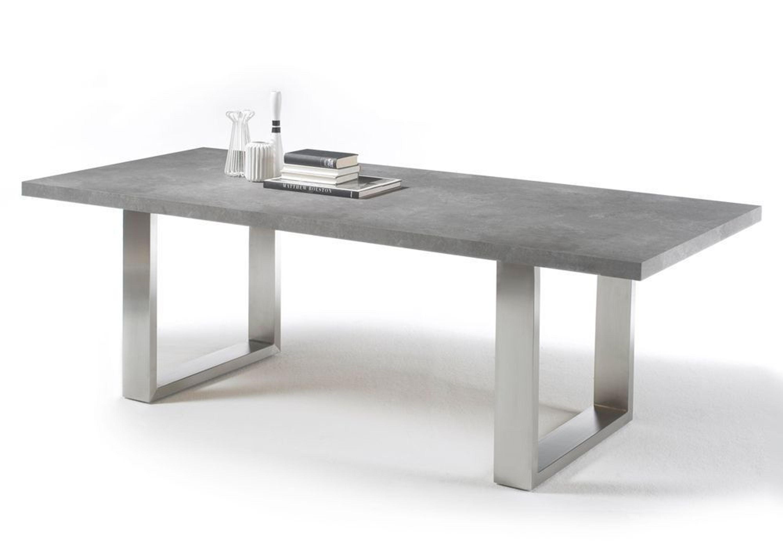Esstisch stone kufentisch esszimmertisch kufengestell betonoptik 9152 kaufen bei - Esszimmertisch betonoptik ...