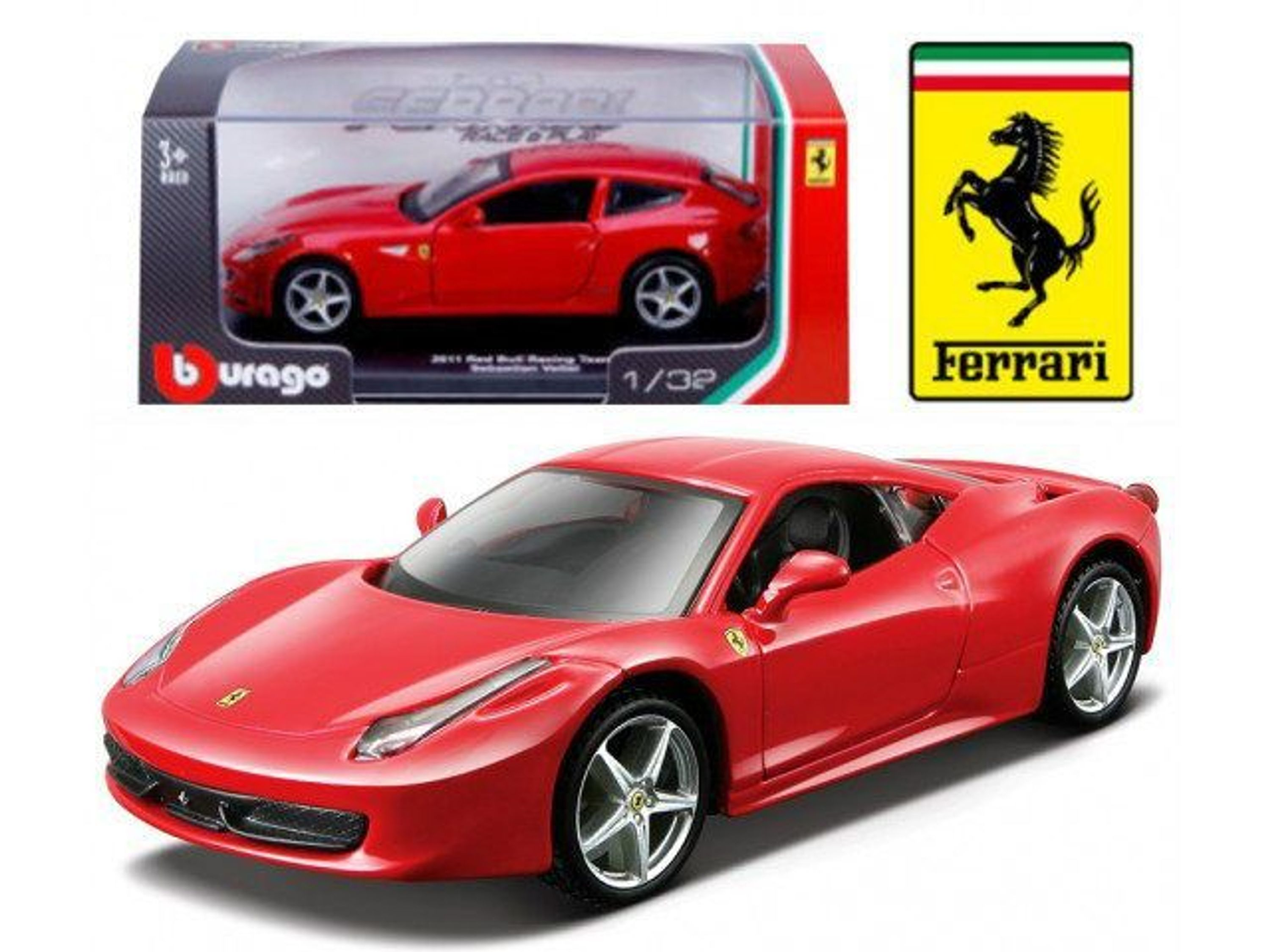 ferrari 458 italia vitrine bburago auto modell 1 32 kaufen bei. Black Bedroom Furniture Sets. Home Design Ideas