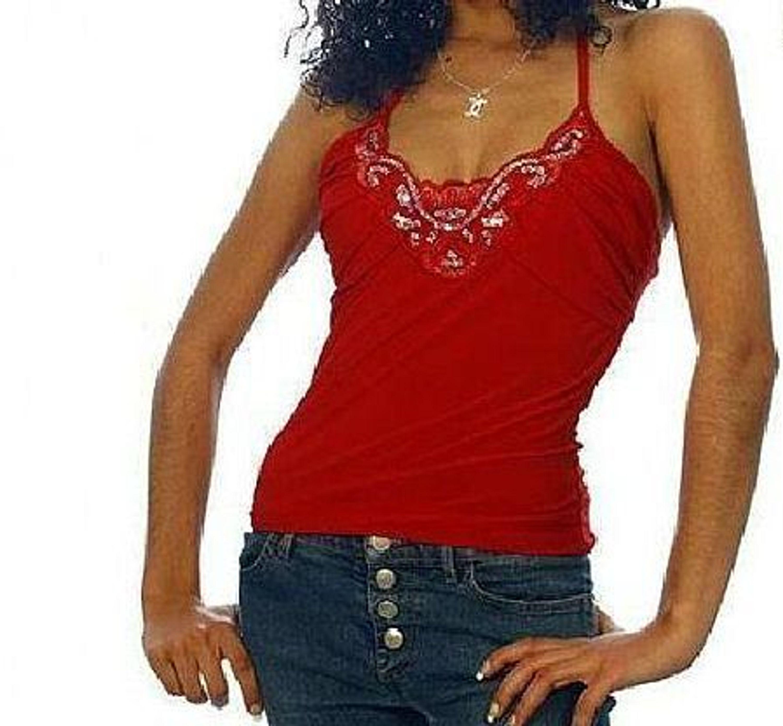 sexy neckholder top pailletten rot gr 36 s kaufen bei. Black Bedroom Furniture Sets. Home Design Ideas