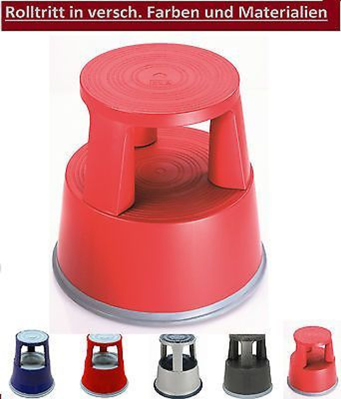 rolltritt kunststoff rot rollhocker rollcontainer tritt. Black Bedroom Furniture Sets. Home Design Ideas