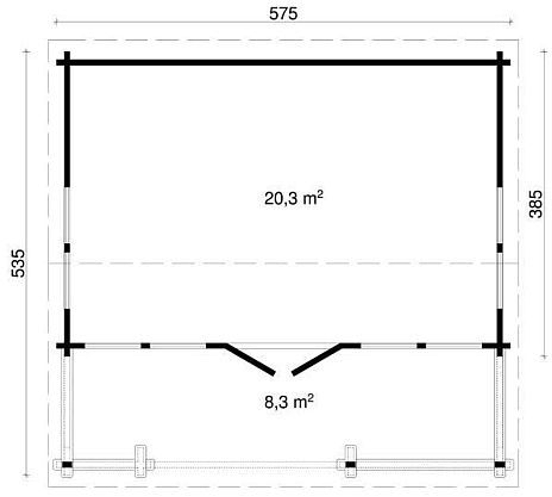 gartenhaus richard 70 blockhaus holzhaus 575 x 385 cm 70 mm ferienhaus kaufen bei. Black Bedroom Furniture Sets. Home Design Ideas