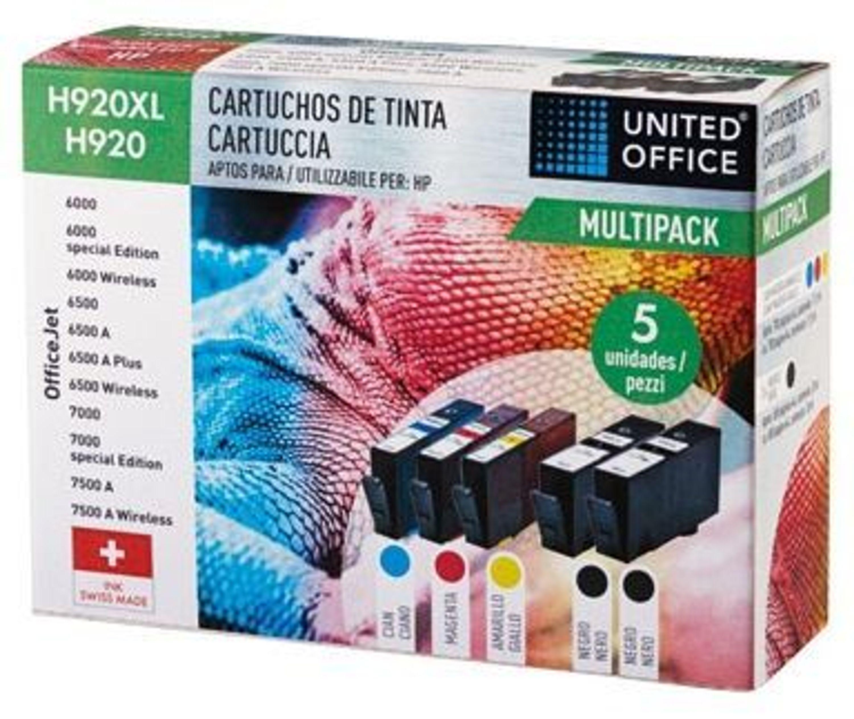 tintenpatronen united office h920xl 5 st ck f r hp neu in der originalverpackt kaufen bei. Black Bedroom Furniture Sets. Home Design Ideas