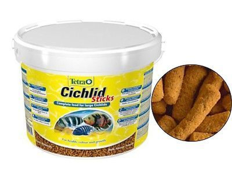 Tetra cichlid sticks 10 l hauptfutter f r alle cichliden for Tetra cichlid sticks