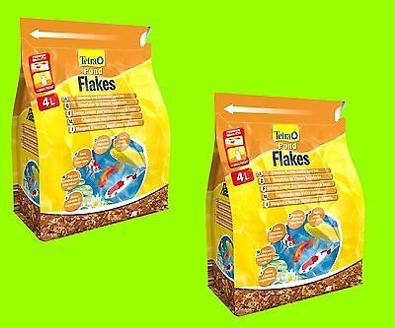 Tetra pond flakes 2x4 liter hauptfutter in flockenform f r for Suche teichfische