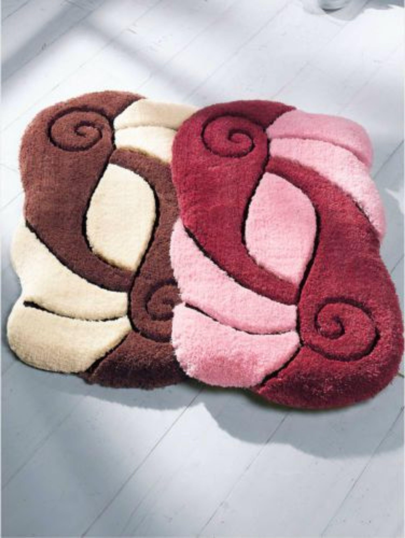 badmatte badgarnitur 1tlg badteppich 80x80cm rubin rosa kaufen bei. Black Bedroom Furniture Sets. Home Design Ideas
