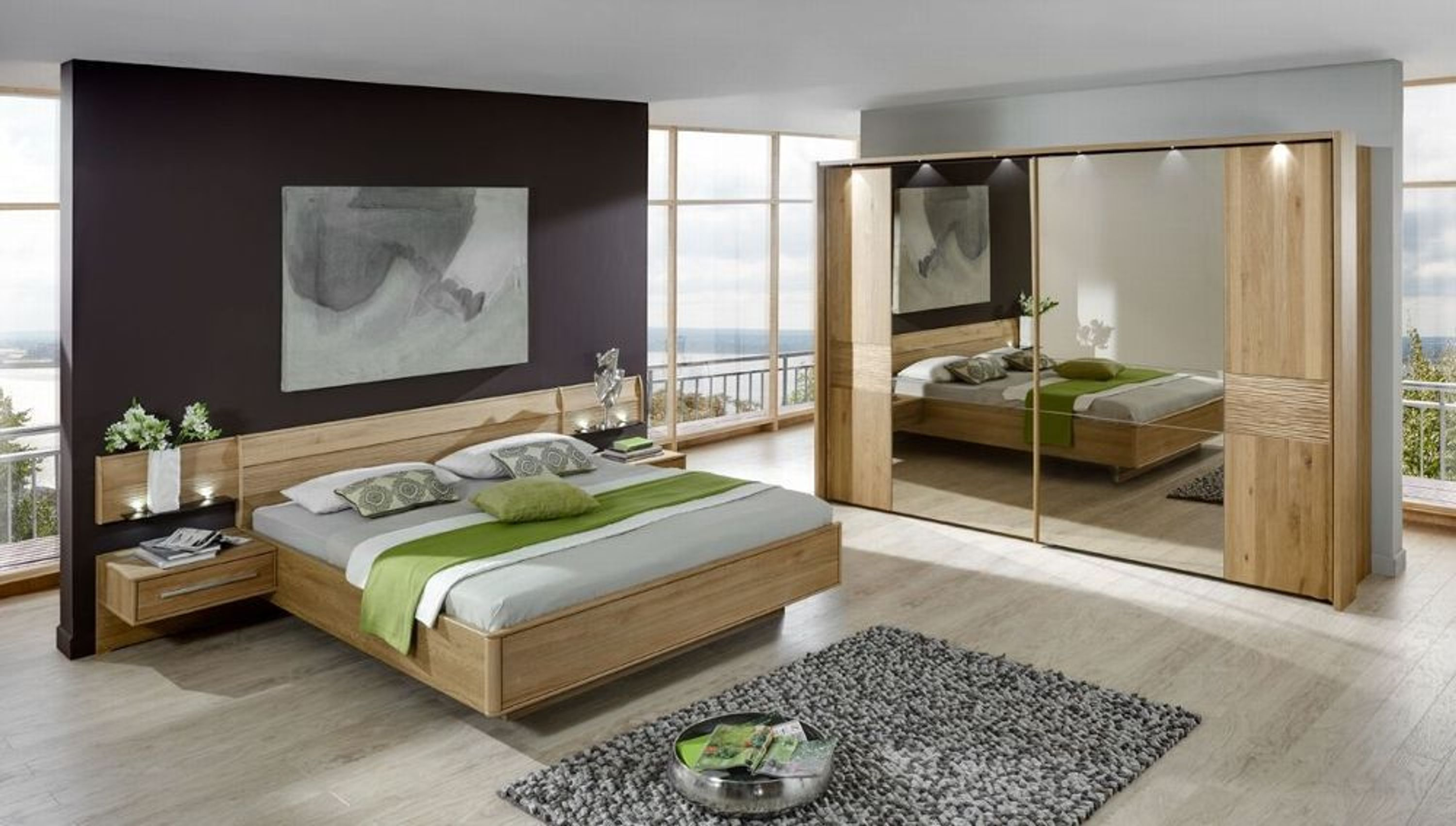 schlafzimmer komplett samoa schlafzimmerm bel eiche teilmassiv 9424 kaufen bei. Black Bedroom Furniture Sets. Home Design Ideas