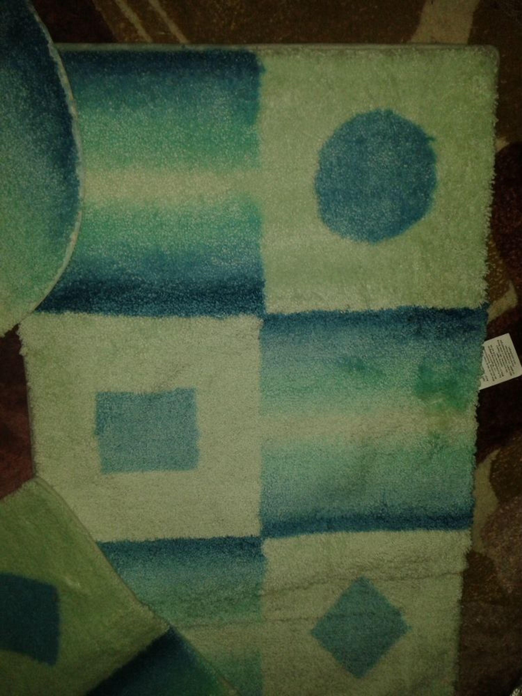 badgarnitur 3 teilig mit wc ausschnitt f r stand wc blau aqua kaufen bei. Black Bedroom Furniture Sets. Home Design Ideas