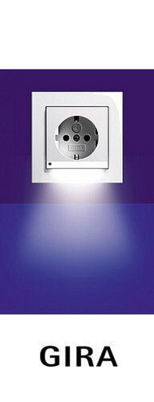 gira steckdose led licht system 55 reinwei gl nzend kaufen bei. Black Bedroom Furniture Sets. Home Design Ideas