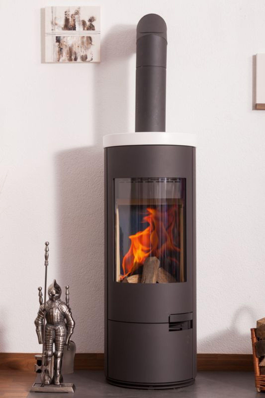 kaminofen coroas 01 keramik korpusfarbe schwarz keramikfarbe wei matt kaufen bei. Black Bedroom Furniture Sets. Home Design Ideas
