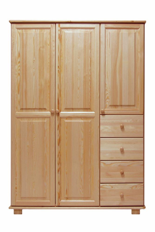 kleiderschrank kiefer vollholz massiv natur 018. Black Bedroom Furniture Sets. Home Design Ideas