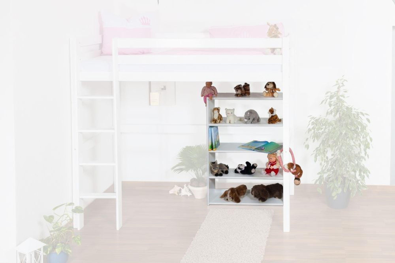 b cherregal dominik buche vollholz massiv wei lackiert kaufen bei. Black Bedroom Furniture Sets. Home Design Ideas