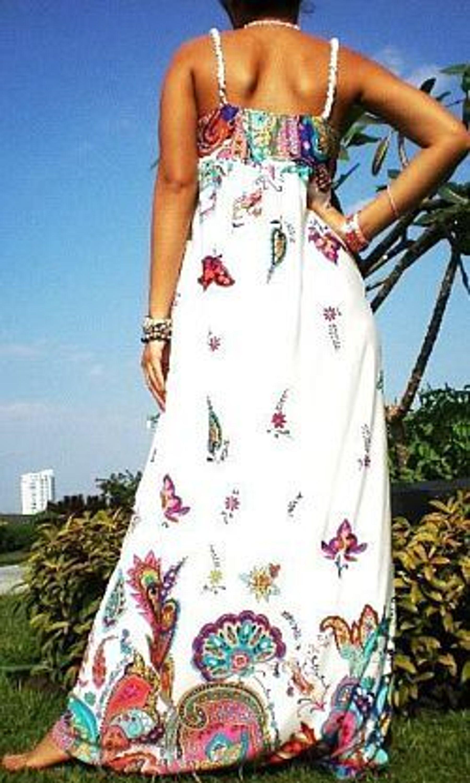 blogger maxikleid boho hippie maxi dress sommer kleid. Black Bedroom Furniture Sets. Home Design Ideas
