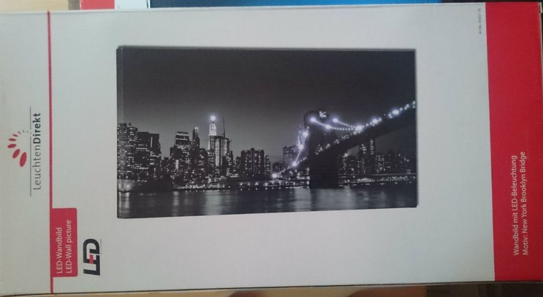 led bild motive br cke new york brooklyn bridge. Black Bedroom Furniture Sets. Home Design Ideas