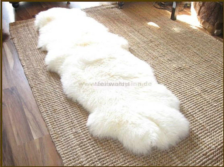 xxl ko doppel schaffell lammfell felle bettvorleger bettunterlage wei neu 180cm kaufen bei. Black Bedroom Furniture Sets. Home Design Ideas