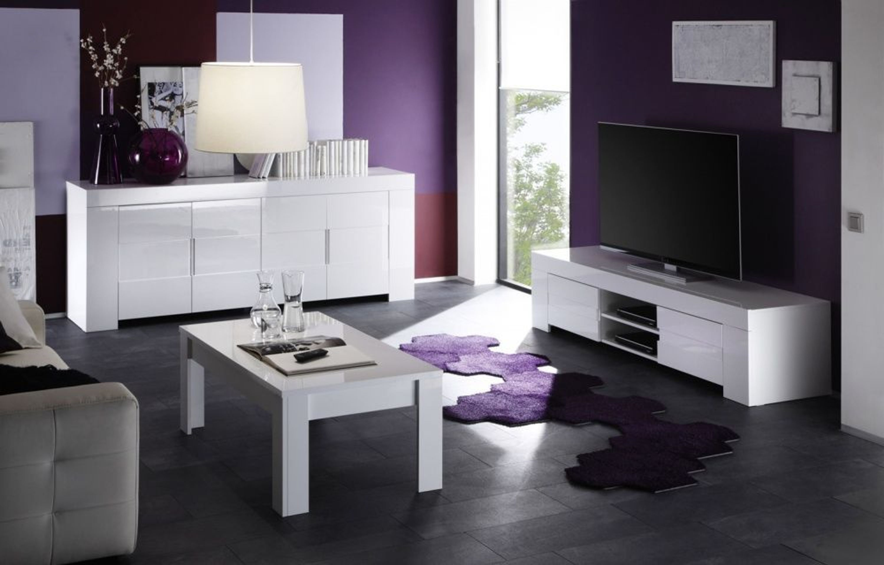 tv unterschrank ios hochglanz weiss kaufen bei. Black Bedroom Furniture Sets. Home Design Ideas