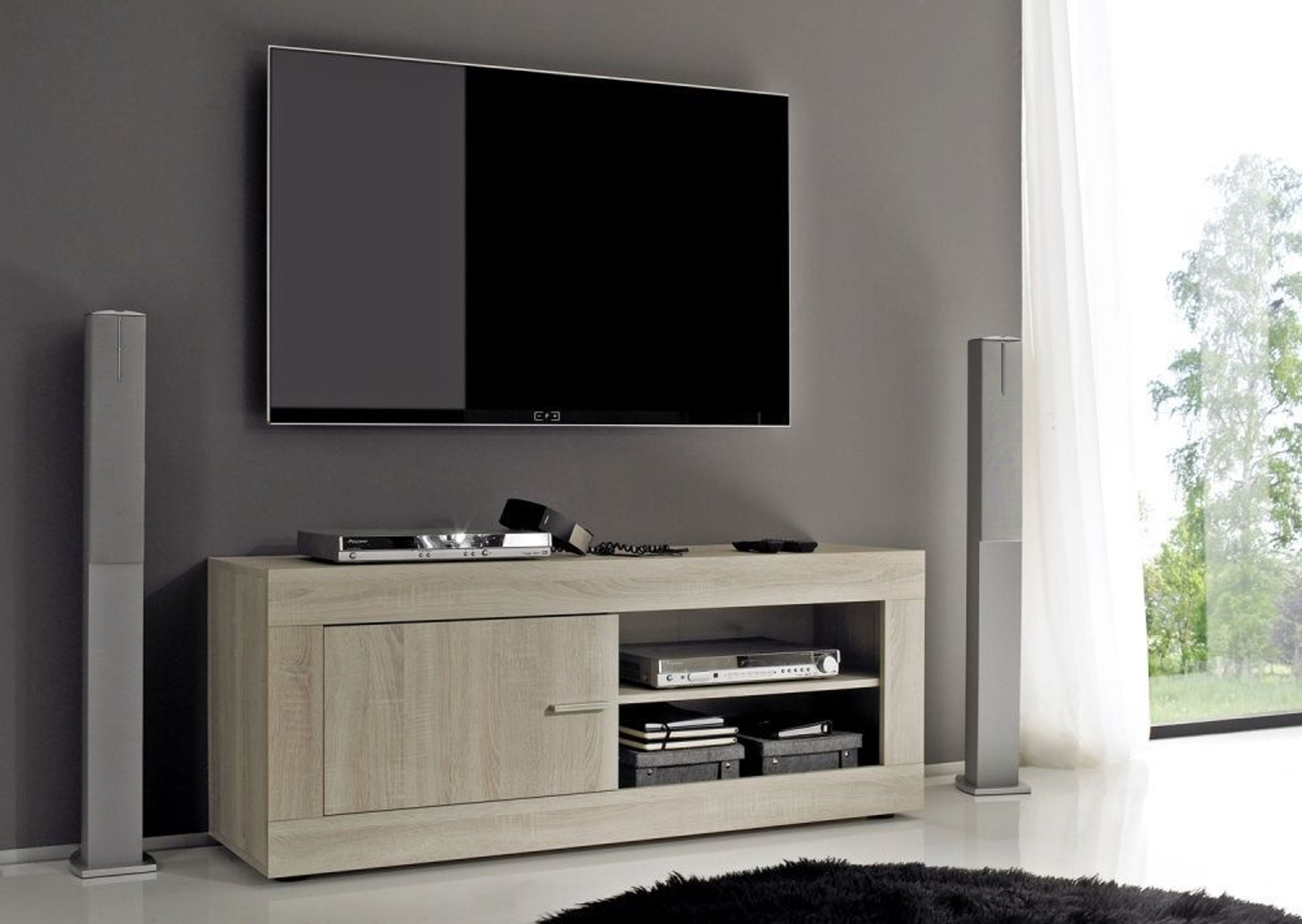 tv unterteil rustic sonoma eiche melamin kaufen bei. Black Bedroom Furniture Sets. Home Design Ideas