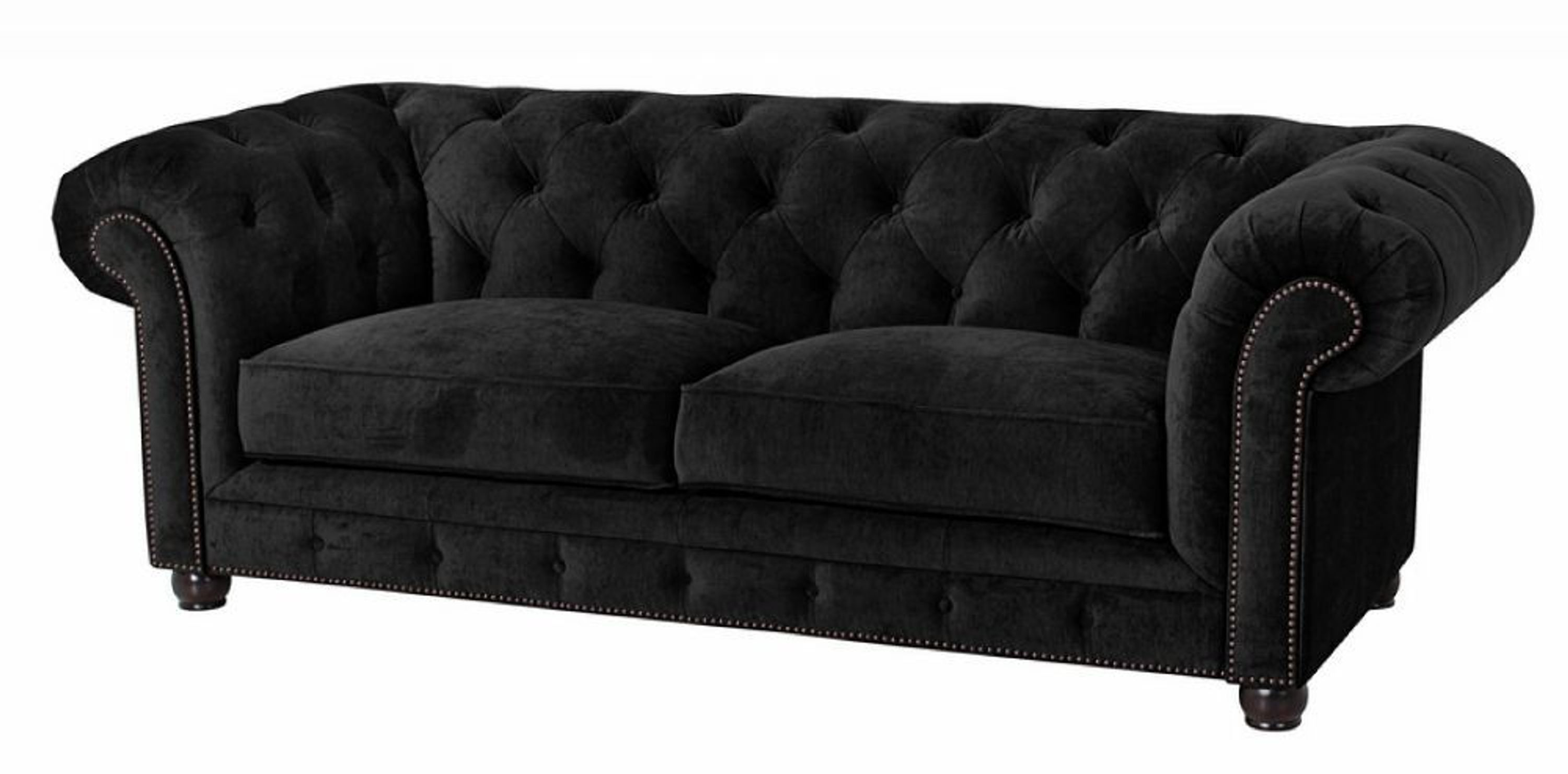 sofa 2 5 sitz orleans samtvelours schwarz kaufen bei. Black Bedroom Furniture Sets. Home Design Ideas