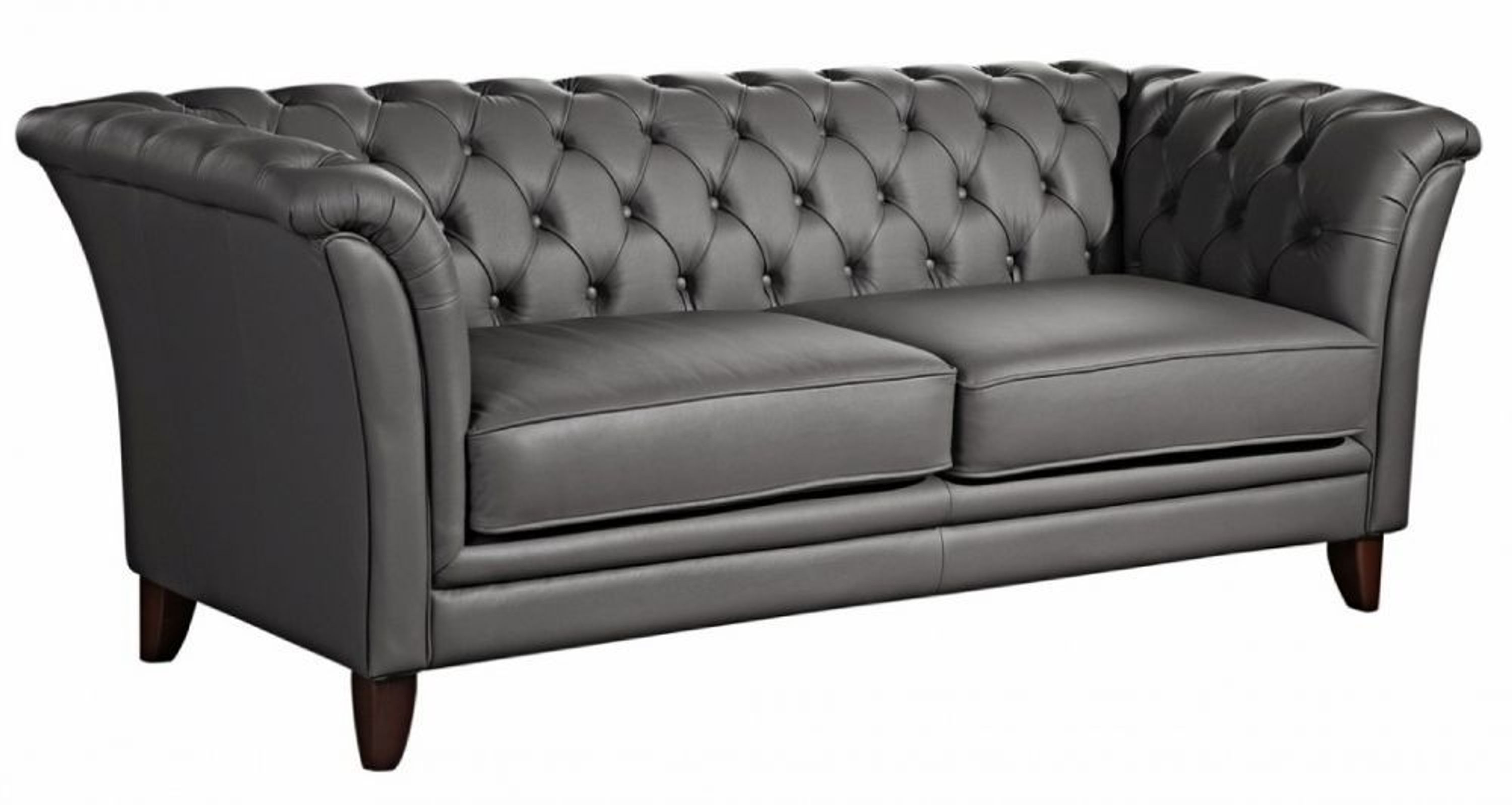 sofa 2 sitz norfolk leder graphit kaufen bei. Black Bedroom Furniture Sets. Home Design Ideas