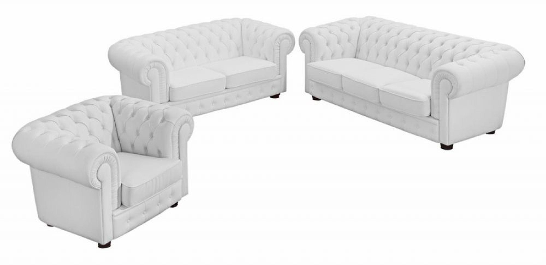 sofa 3 sitz sofa 2 sitz sessel bridgeport kunstleder wei kaufen bei. Black Bedroom Furniture Sets. Home Design Ideas