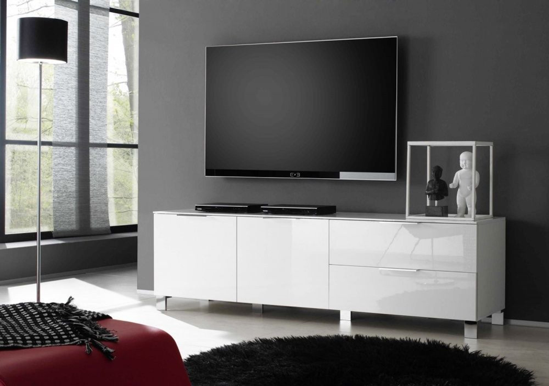 lowboard sol weiss echt hochglanz lackiert 180 cm kaufen. Black Bedroom Furniture Sets. Home Design Ideas