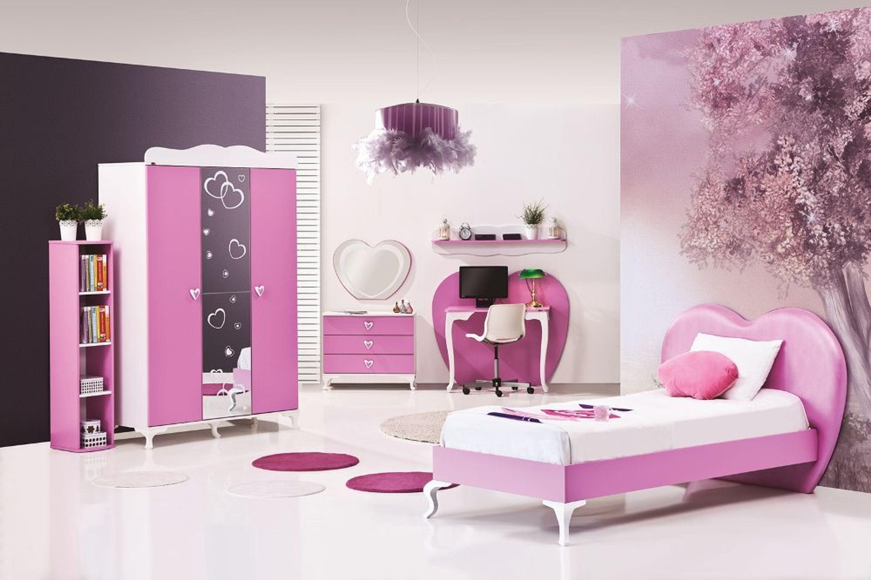 kommode mit spiegel herz wei pink kaufen bei. Black Bedroom Furniture Sets. Home Design Ideas