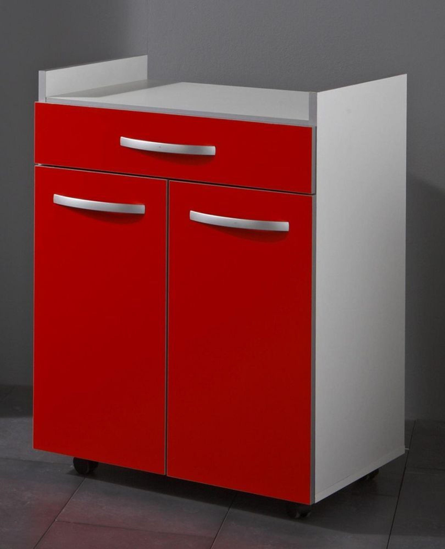 beistellschrank arne 2 t rig in wei rot kaufen bei. Black Bedroom Furniture Sets. Home Design Ideas