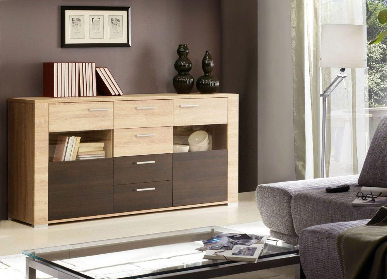 Wohnwand leonardo 4 tlg nussbaum satin touchwood kaufen for Wohnzimmer kompletteinrichtung