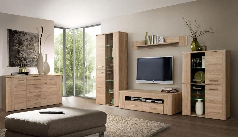 wohnwand ciara 4 teilig eiche antik cacao supermatt. Black Bedroom Furniture Sets. Home Design Ideas