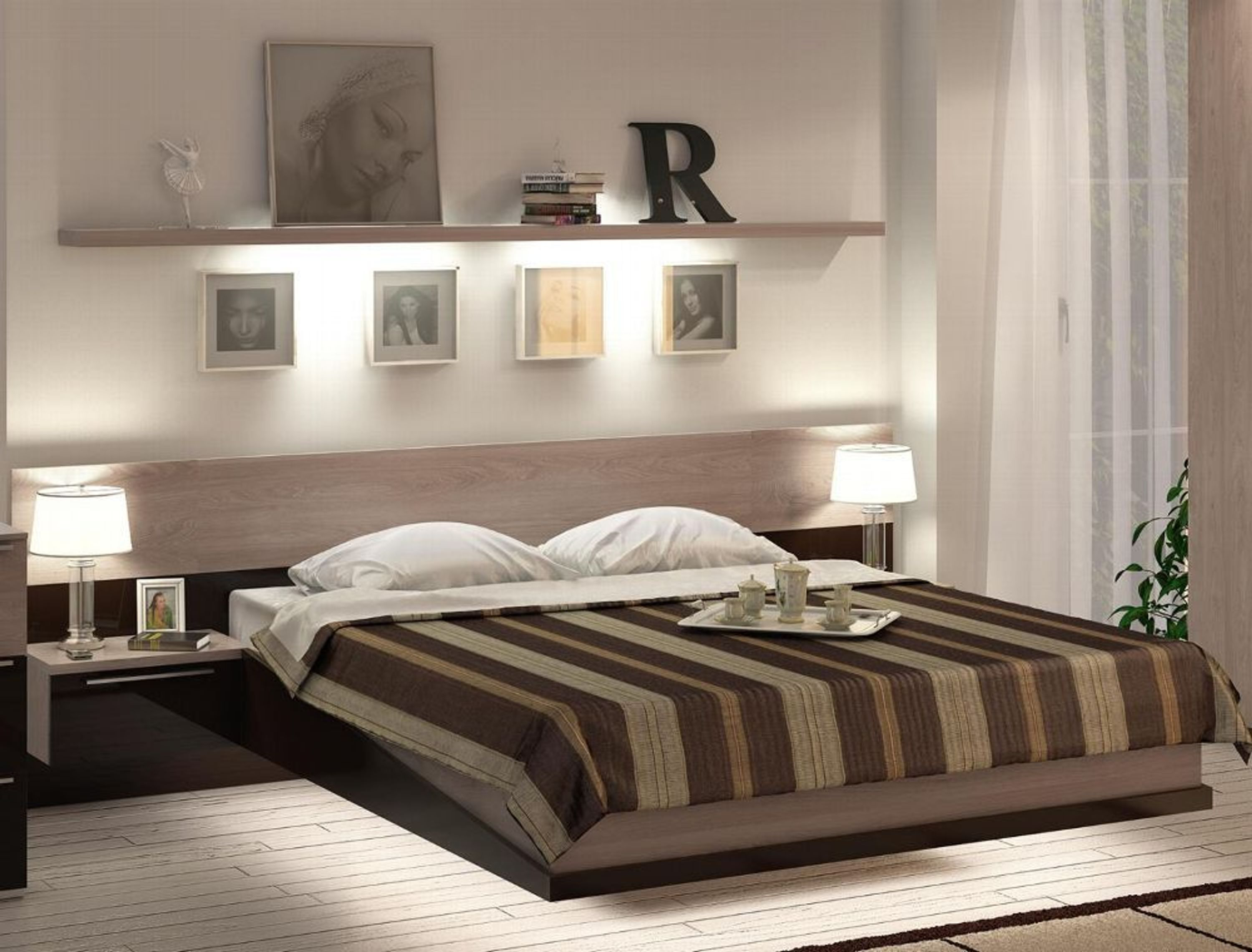 stauraumbett twin 160x200 cm in sonoma bronze glanz kaufen. Black Bedroom Furniture Sets. Home Design Ideas